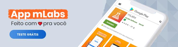 imagem de um banner publicitário com chamada para testar o app da mlabs