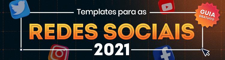 imagem de um banner publicitário com chamada para baixar um guia gratuito de templates para as redes sociais da mLabs