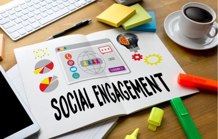 taxa de engajamento nas redes sociais
