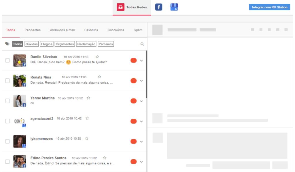Ferramenta-de-redes-sociais-mensagens-no-inbox