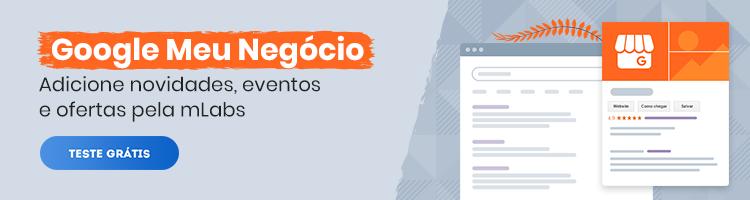 imagem de um banner publicitário com chamada para testar gratuitamente o recurso de gerenciamento do google meu negócio