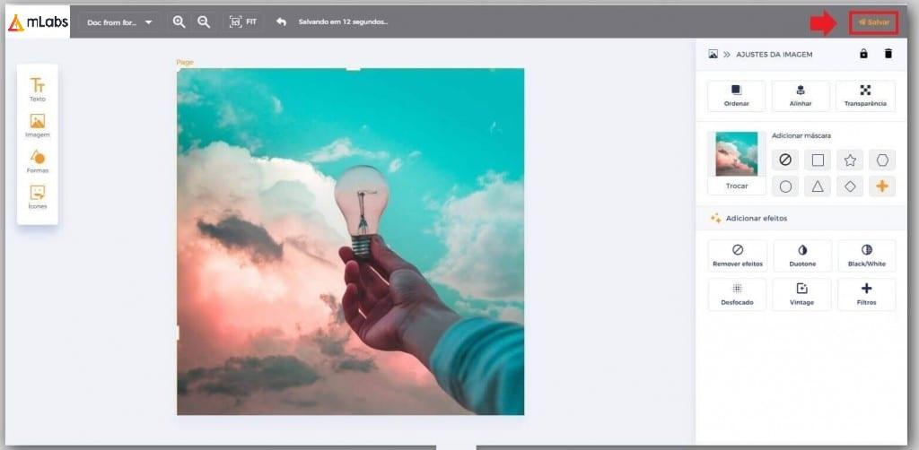 Gerenciador de Redes Sociais mLabs: imagem da tela Studio da mLabs