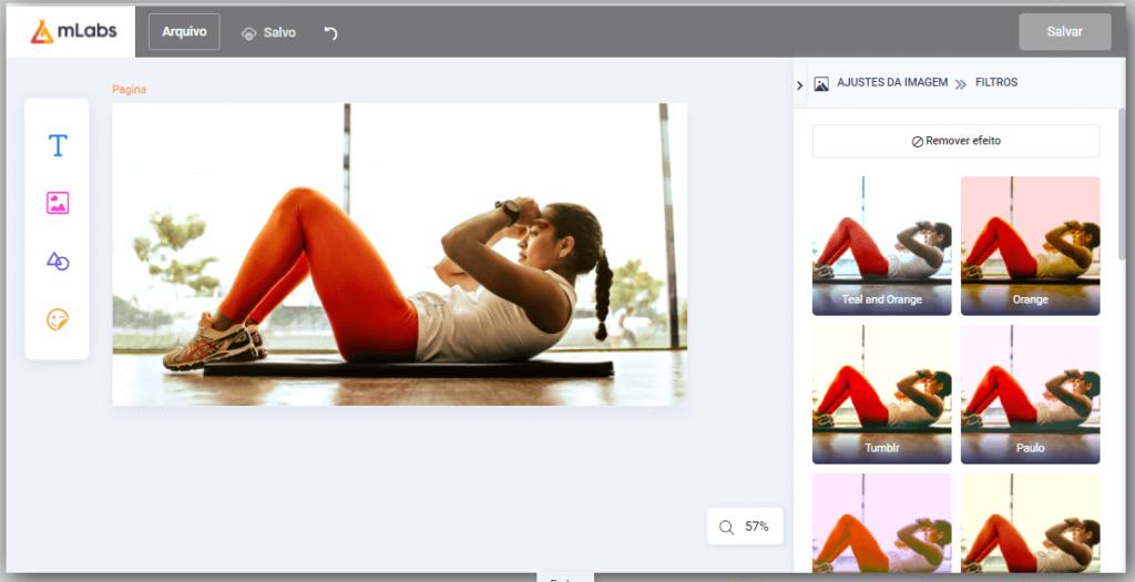 app para criar imagens para instagram: imagem do mlabs studio