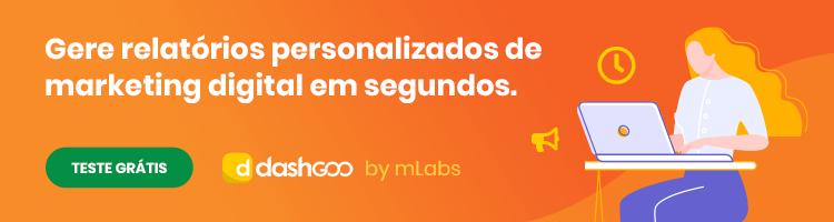 banner publicitário sobre geração de relatórios dashgoo by mLabs