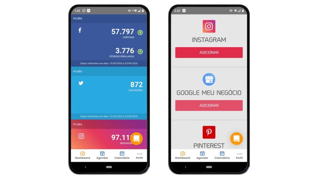 mlabs app: imagem da tela de dashboard da mLabs