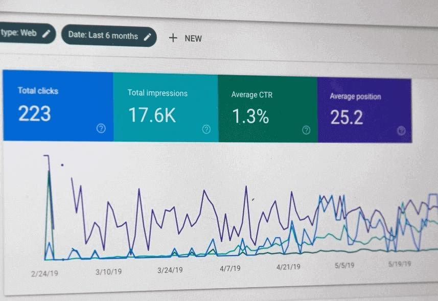 o que e google analytics: imagem dos gráficos de métricas do google analytics