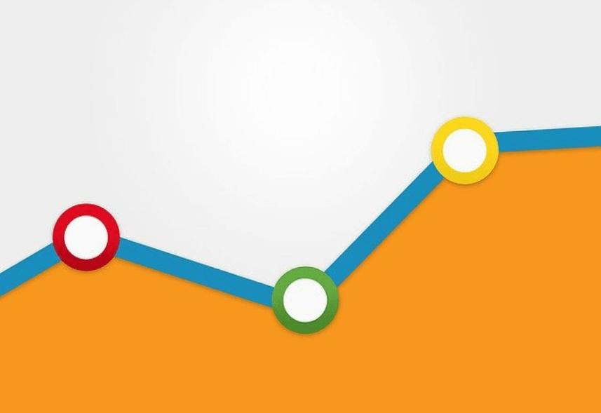 o que e google analytics: imagem do pedaço de um gráfico do google analytics