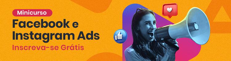 banner publicitário: minicurso grátis Facebook e Instagram ADS