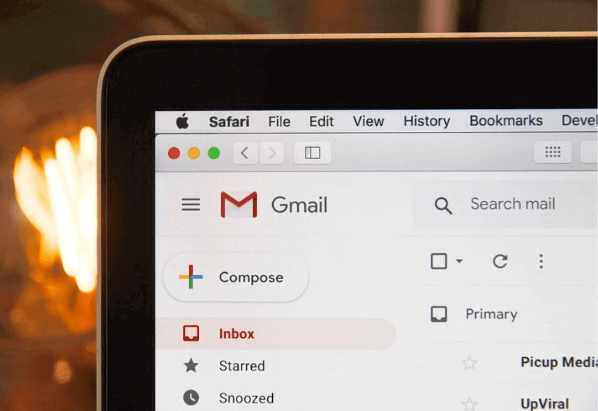 régua de relacionamento: imagem da tela do computador mostrando o gmail