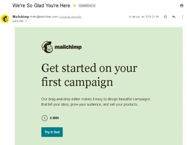 email marketing exemplo: imagem do email da mailchimp