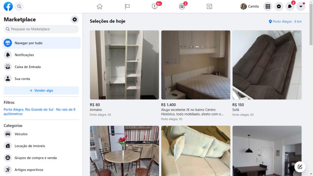 tela facebook marketpace
