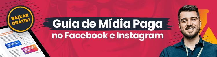banner publicitário de divulgação do material rico gratuito sobre mídia paga no Facebook e Instagram